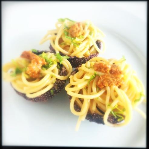 Sea urchin roe pasta